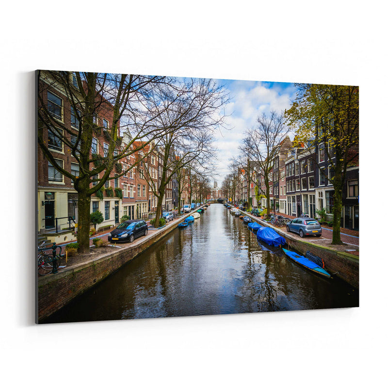 Amsterdam Netherlands Canals Canvas Art Print