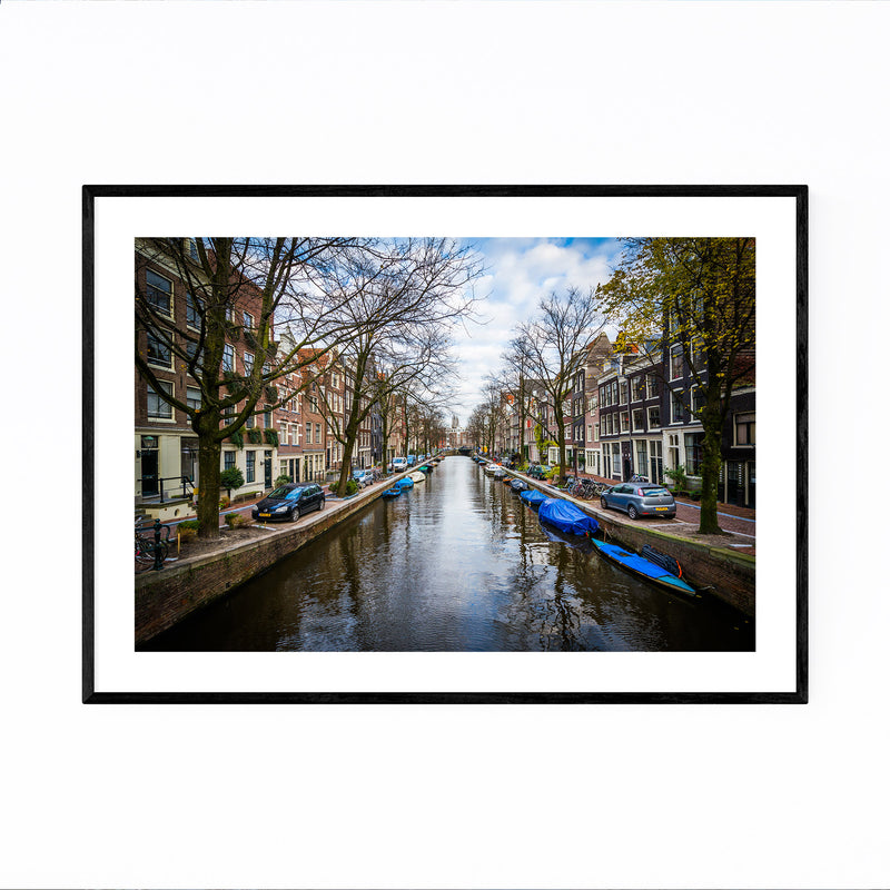 Amsterdam Netherlands Canals Framed Art Print