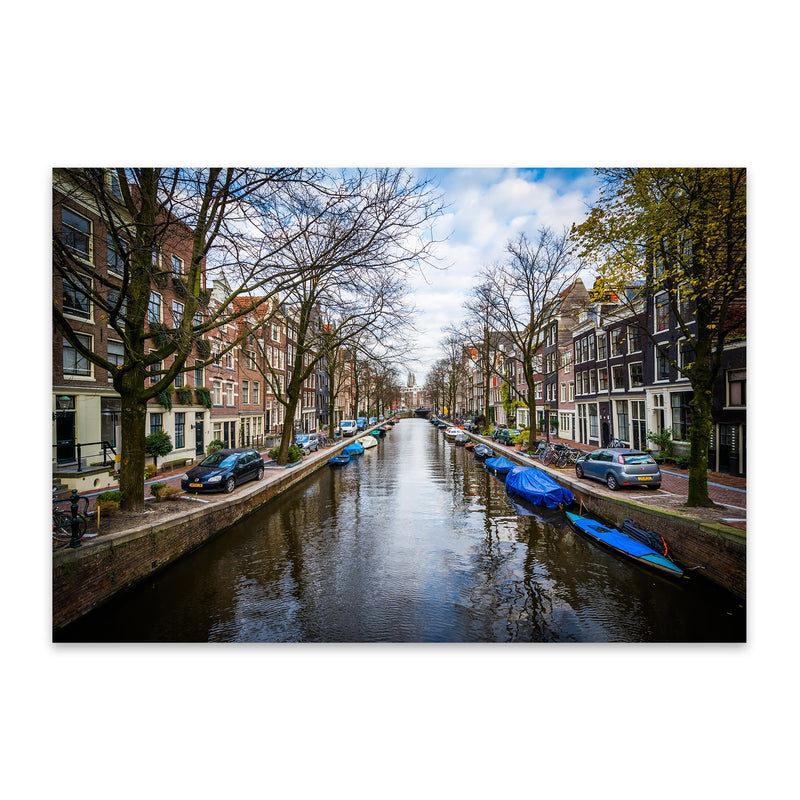 Amsterdam Netherlands Canals Metal Art Print