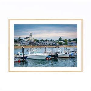 Cape Cod Provincetown MA Boats Framed Art Print