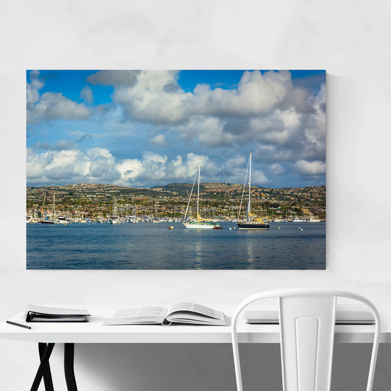 Newport Beach California Harbor Metal Art Print