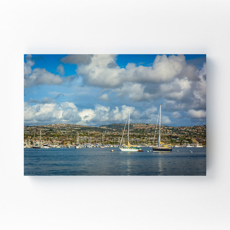 Newport Beach California Harbor Canvas Art Print