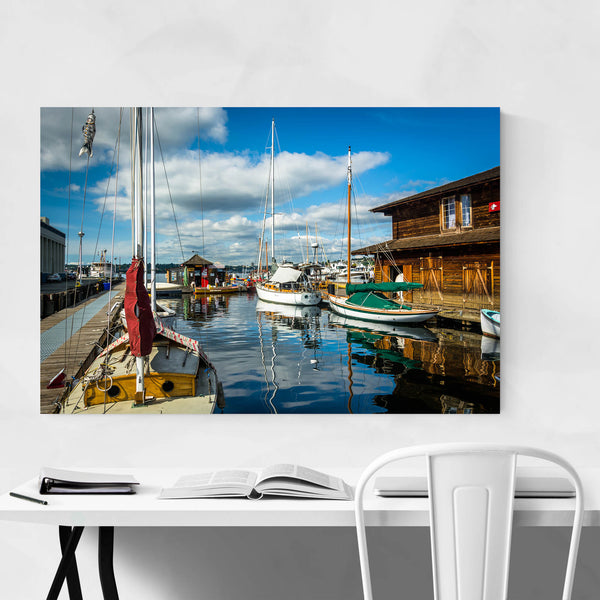 Lake Union Boats Seattle Art Print