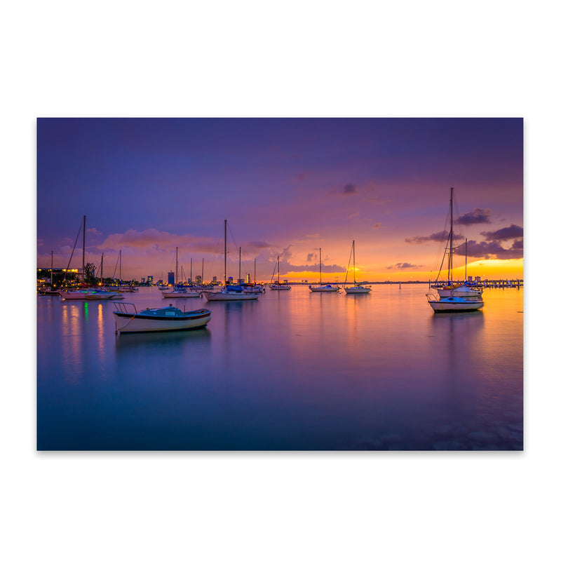 Miami Beach, Florida Sunset Metal Art Print