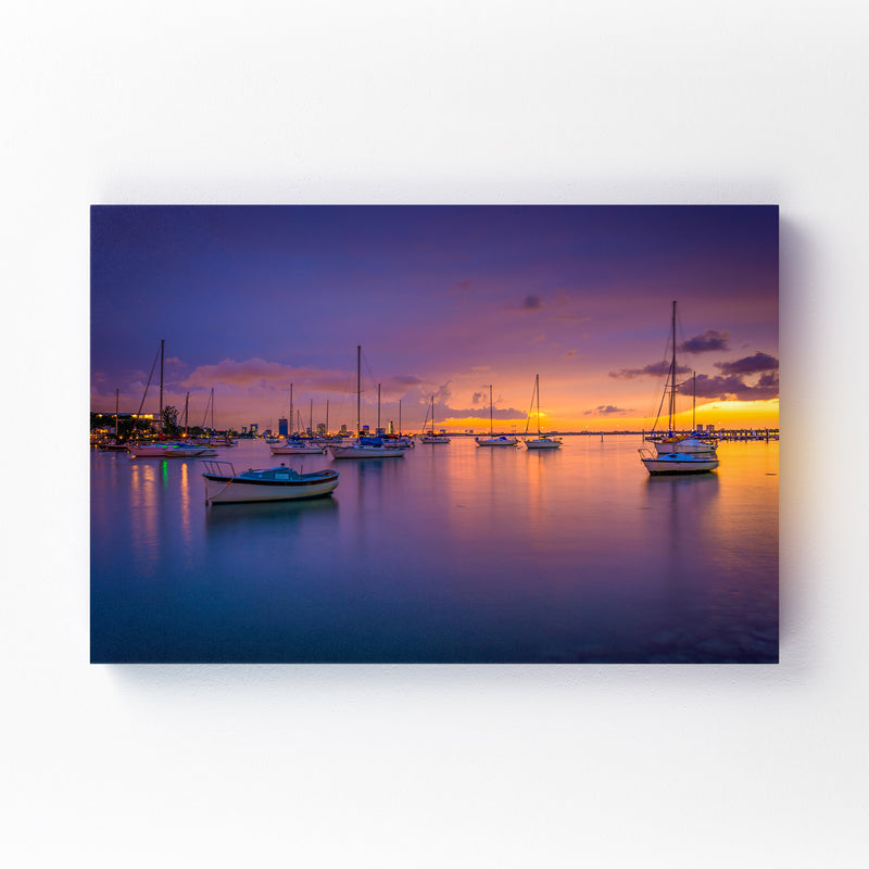 Miami Beach, Florida Sunset Canvas Art Print