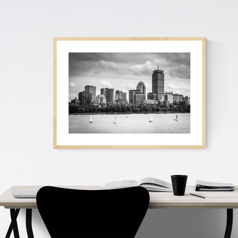 Boston Charles River Skyline Framed Art Print