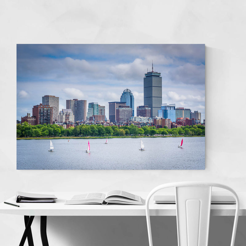 Boston Charles River Skyline Art Print