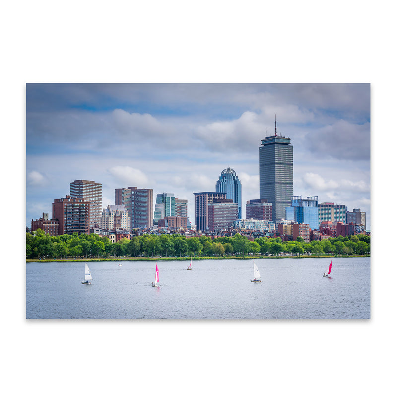 Boston Charles River Skyline Metal Art Print