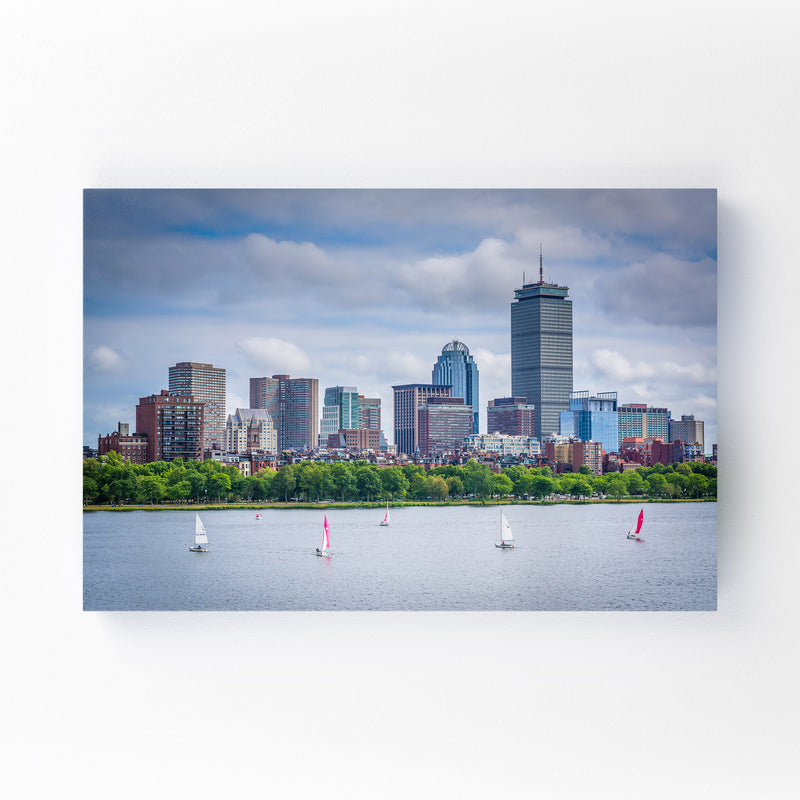 Boston Charles River Skyline Mounted Art Print