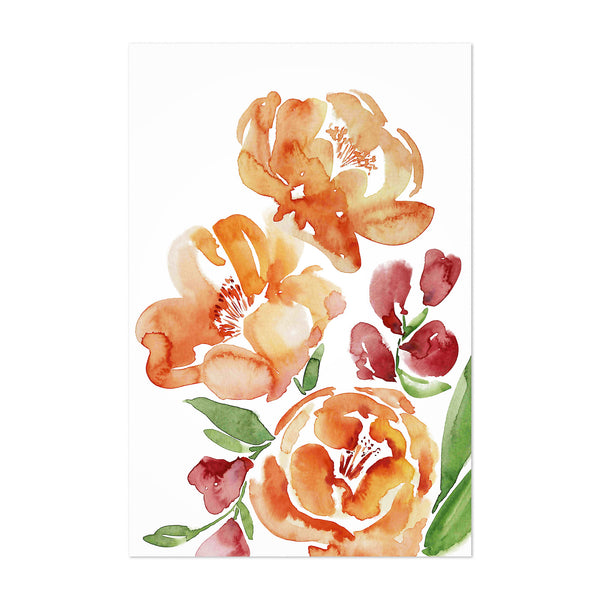 Watercolor Loose Flower Bouquet Art Print