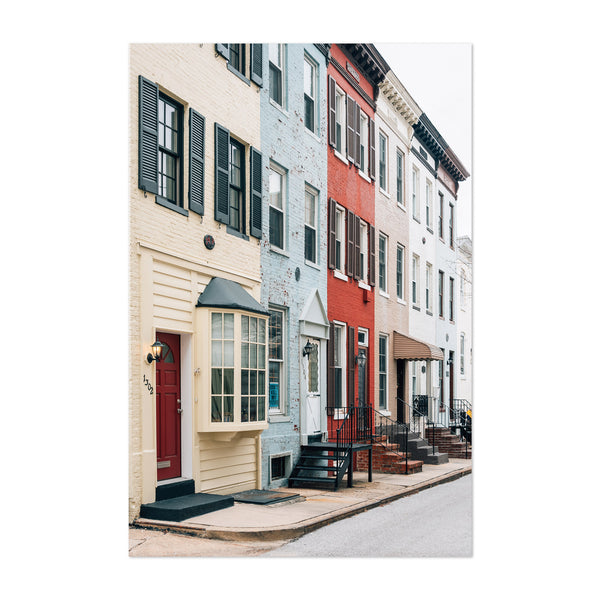 Bolton Hill Baltimore Maryland Art Print