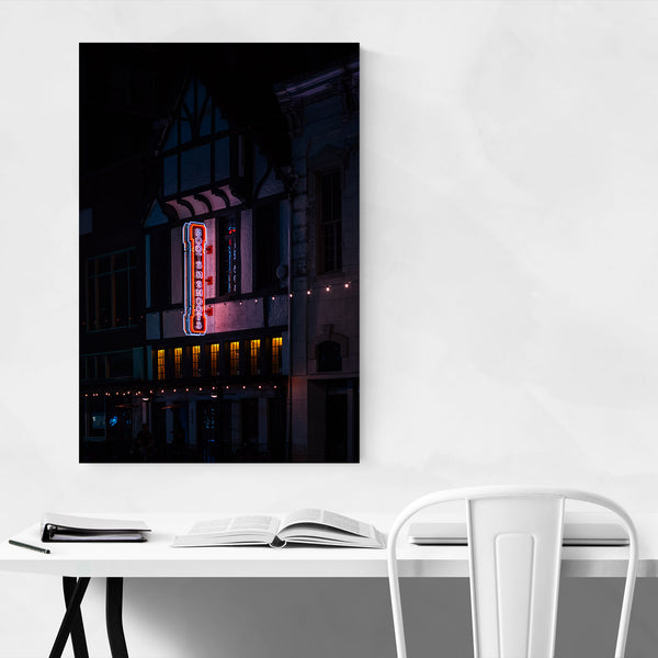 Houston Texas Downtown Neon Art Print