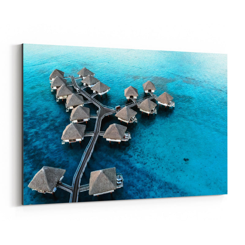 Bora Bora Beach Coastal Nature Canvas Art Print