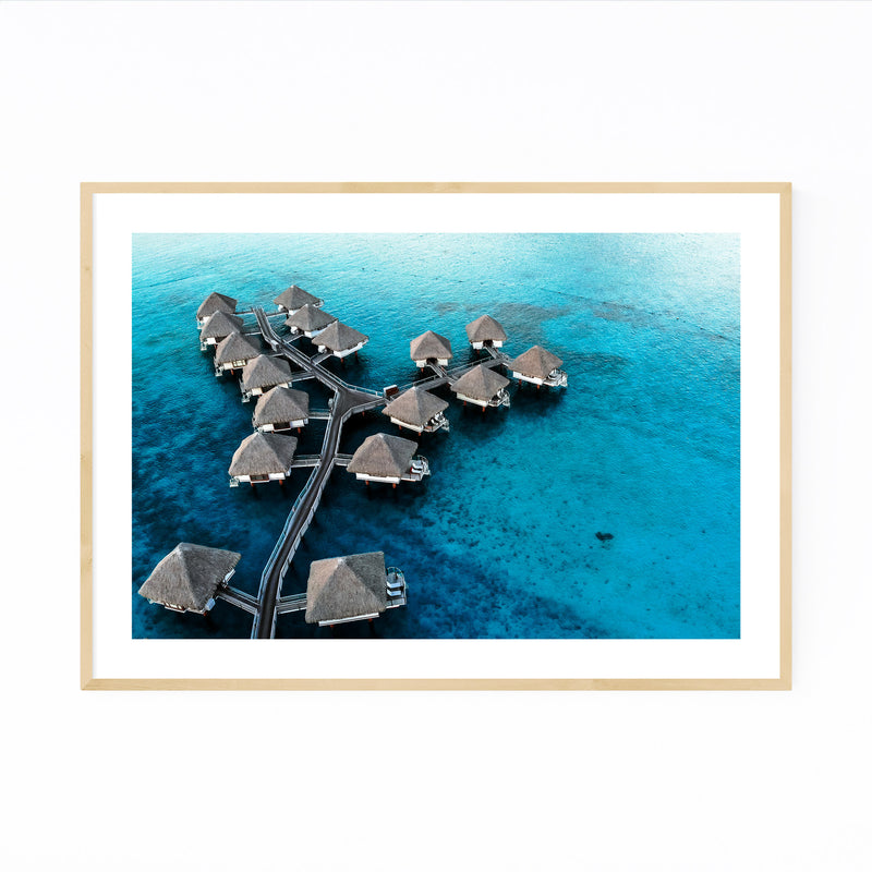 Bora Bora Beach Coastal Nature Framed Art Print