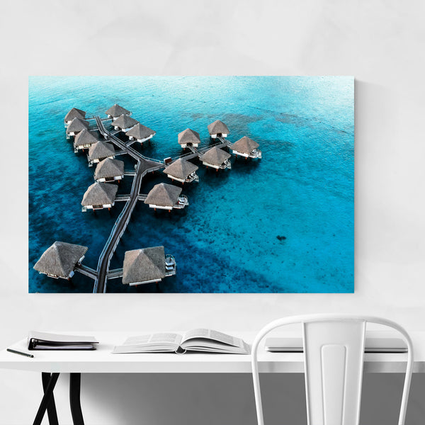 Bora Bora Beach Coastal Nature Art Print