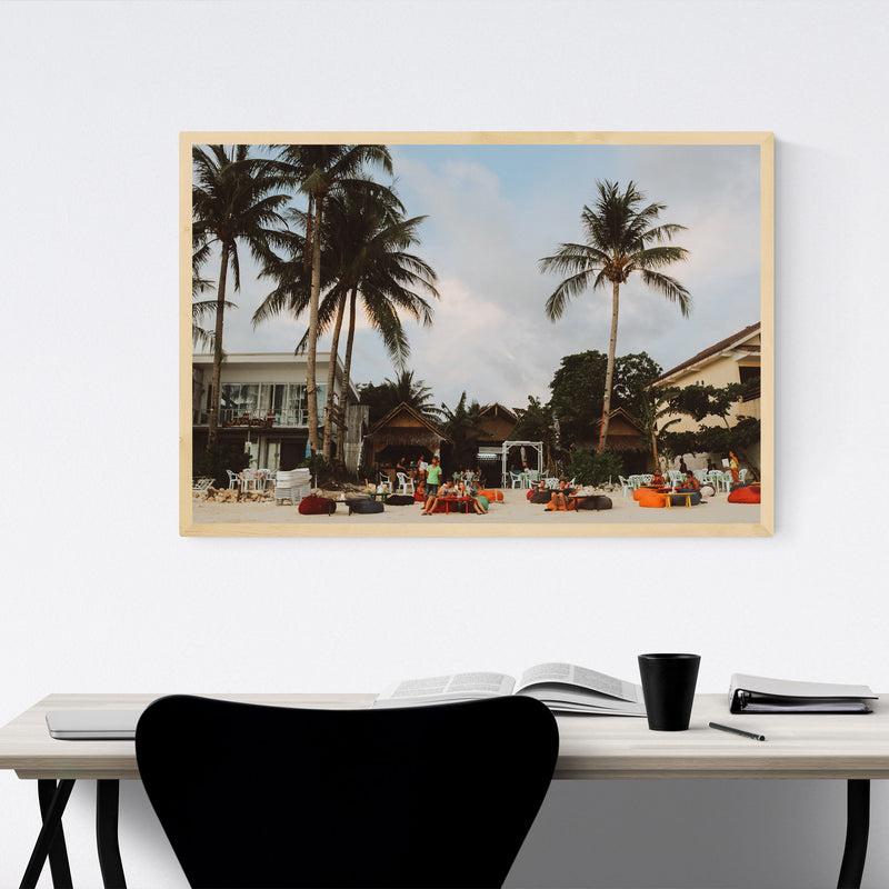 Boracay Philippines Beach Coast Framed Art Print
