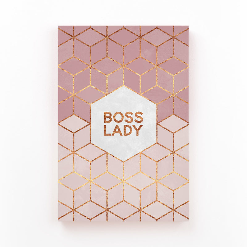Feminism Typography Boss Lady Canvas Art Print