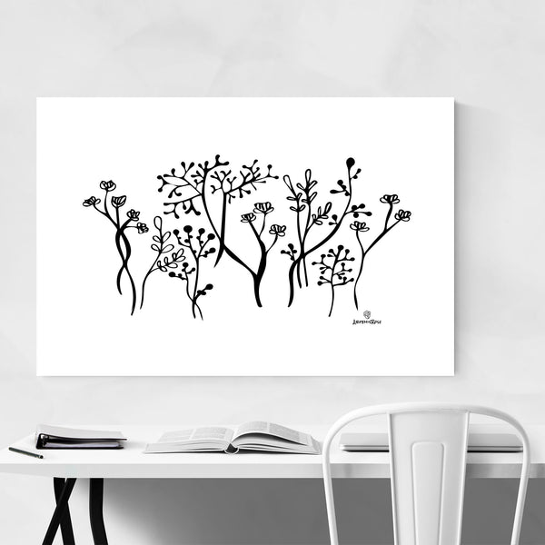 Botanical Floral Illustration Art Print