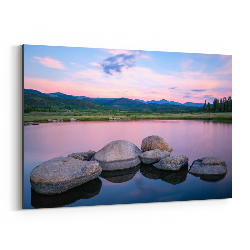 Colorado Mountains Lake Nature Canvas Art Print