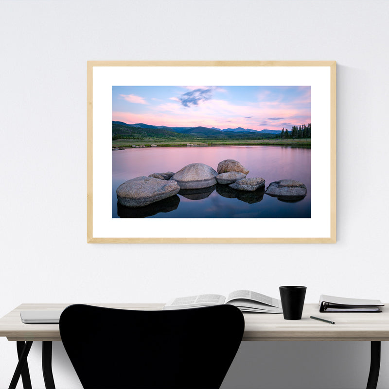 Colorado Mountains Lake Nature Framed Art Print