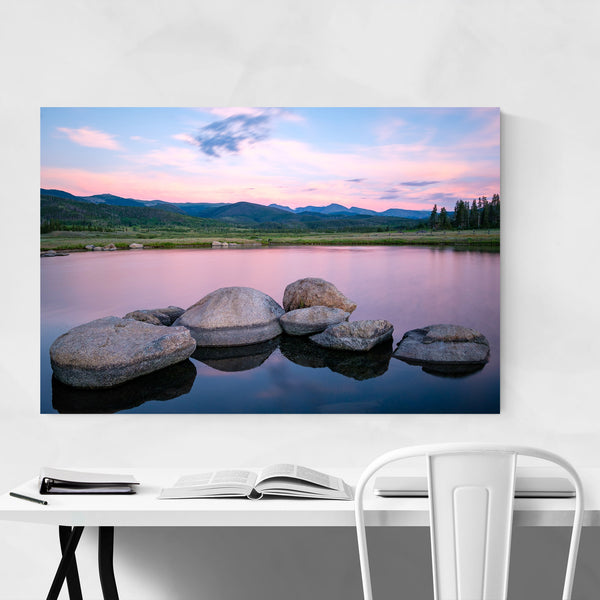 Colorado Mountains Lake Nature Art Print