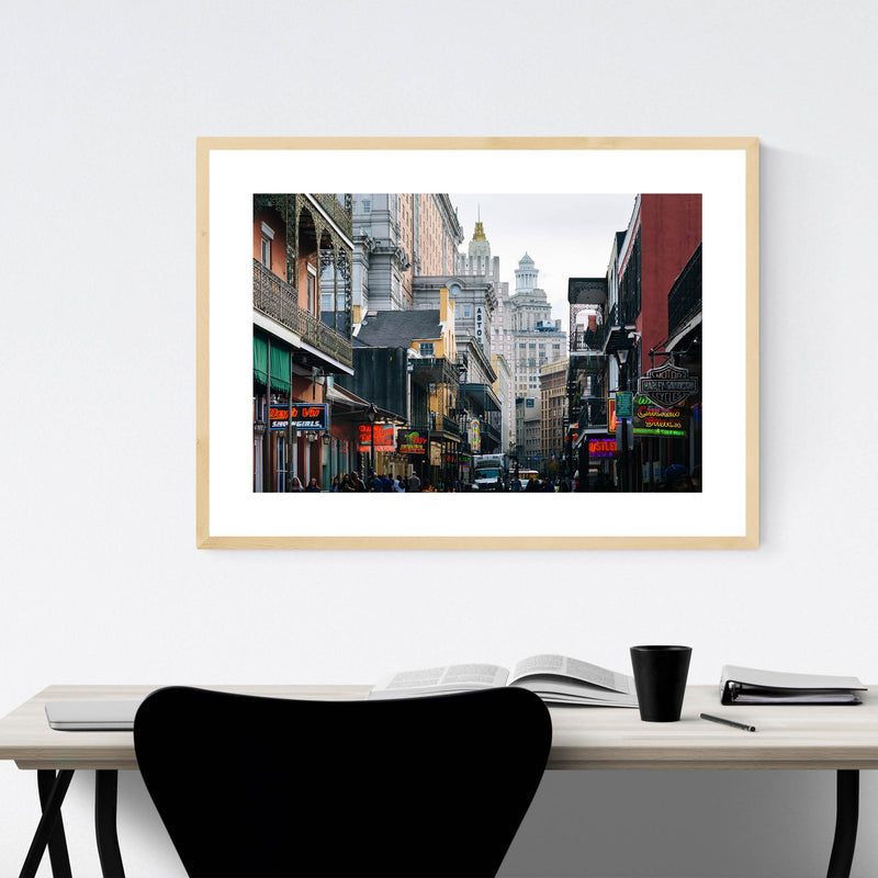 Bourbon Street New Orleans Framed Art Print