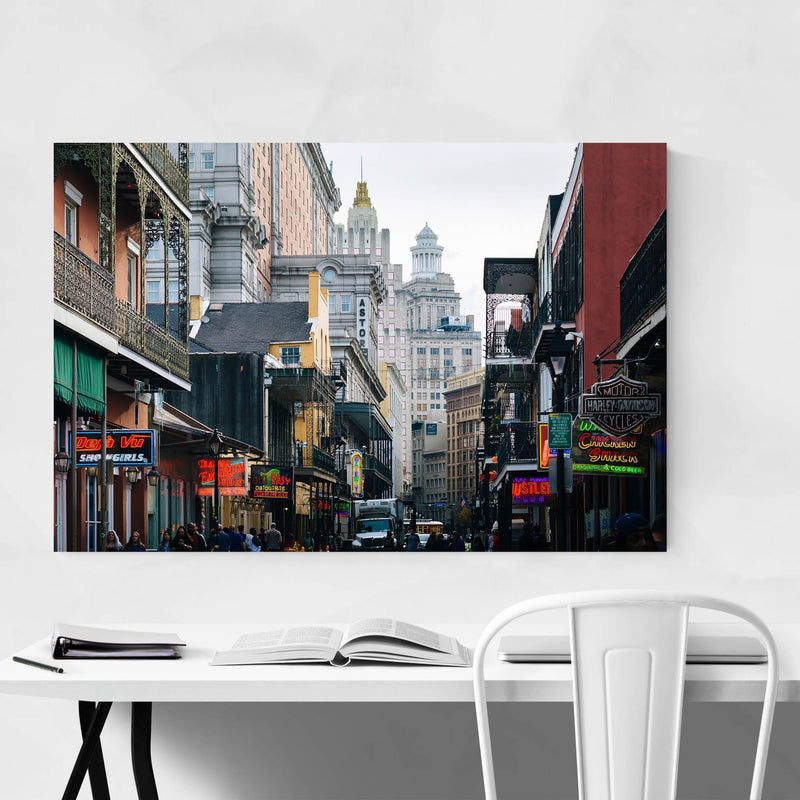Bourbon Street New Orleans Metal Art Print