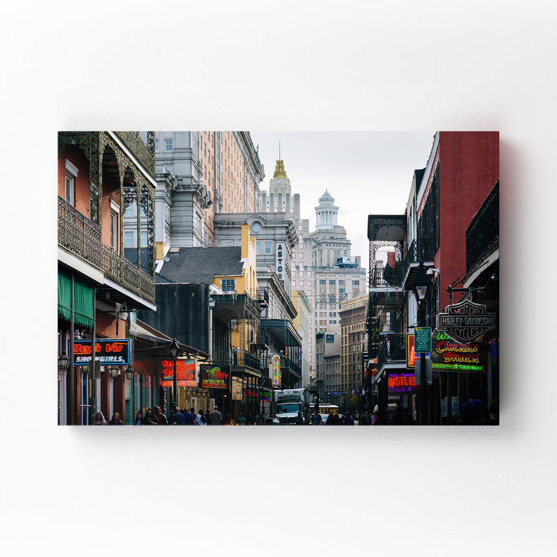 Bourbon Street New Orleans Canvas Art Print
