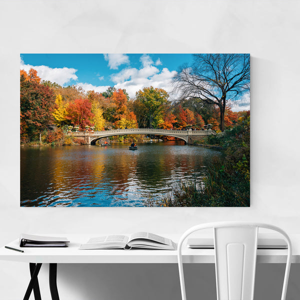 Central Park Bow Bridge New York Art Print