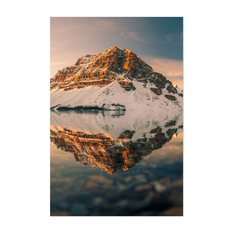 Bow Lake Banff Park Alberta Art Print