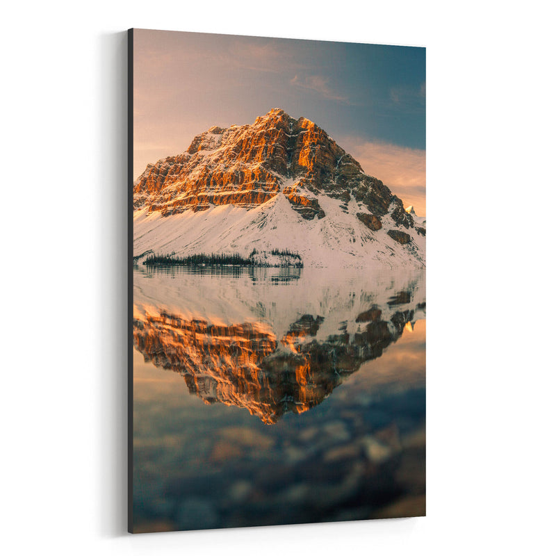 Bow Lake Banff Park Alberta Canvas Art Print