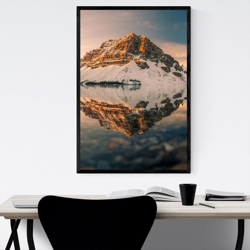 Bow Lake Banff Park Alberta Framed Art Print