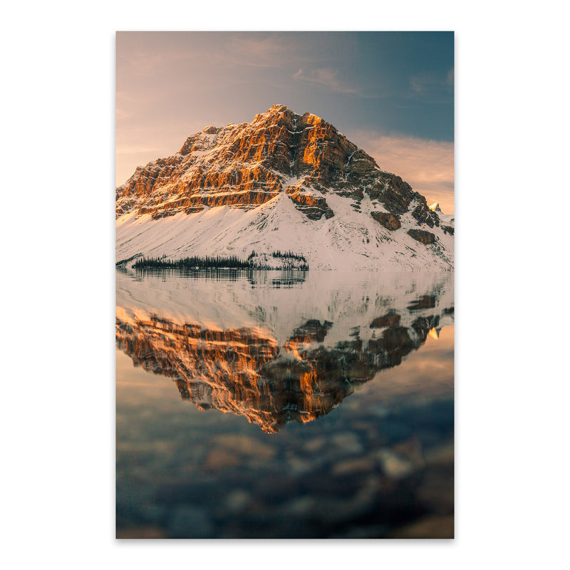 Bow Lake Banff Park Alberta Metal Art Print
