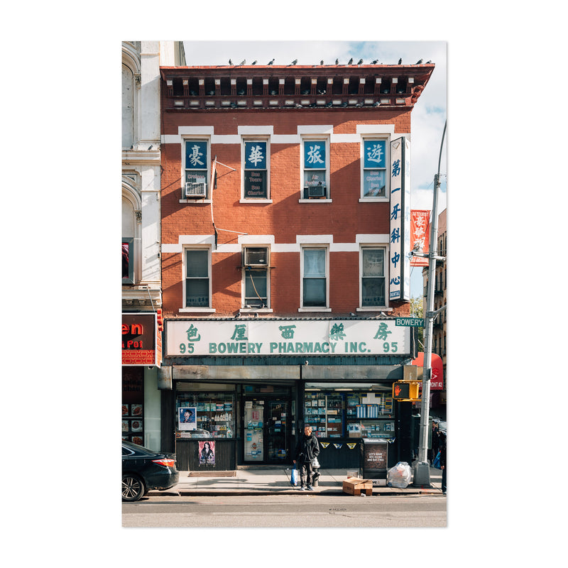 Bowery Chinatown New York City Art Print