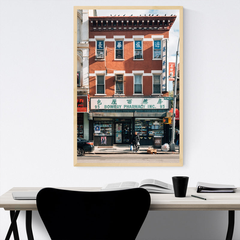 Bowery Chinatown New York City Framed Art Print