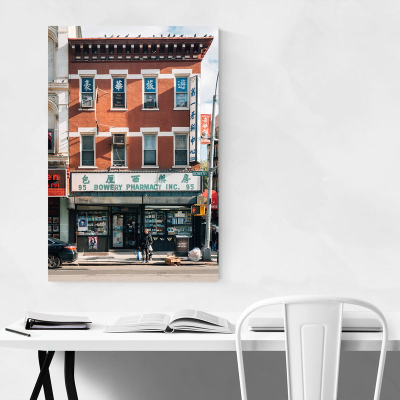 Bowery Chinatown New York City Metal Art Print