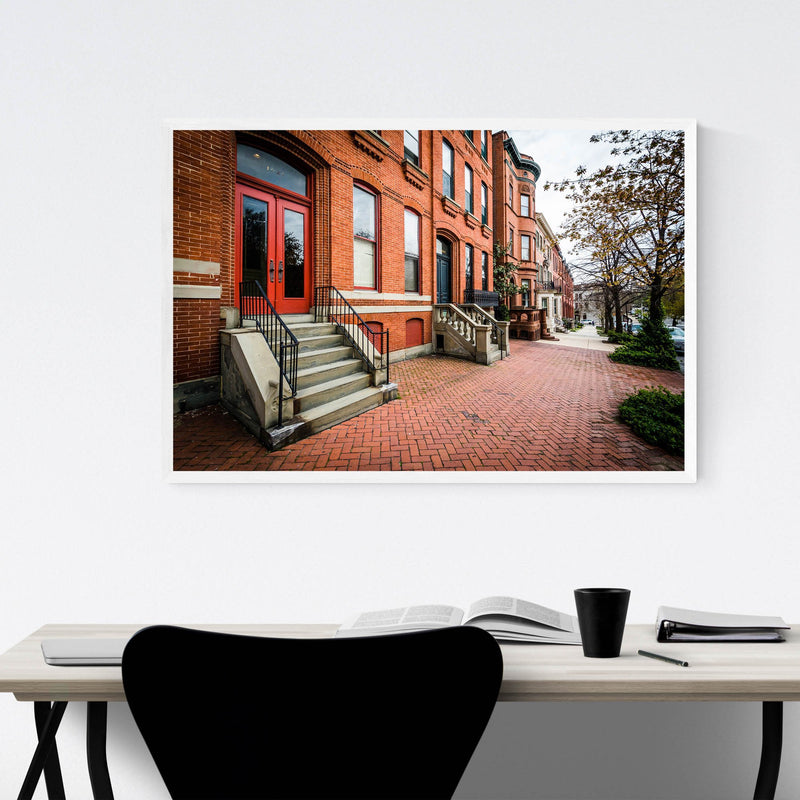 Houses in Bolton Hill Baltimore Framed Art Print