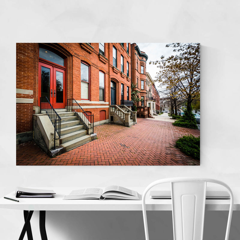 Houses in Bolton Hill Baltimore Metal Art Print