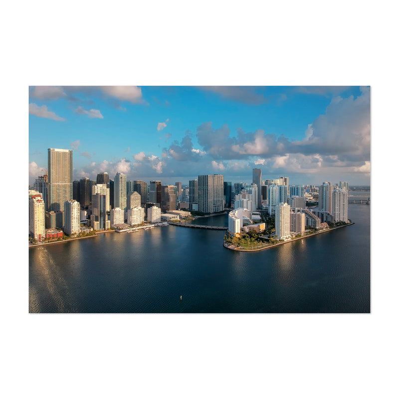 Miami Downtown Brickell Skyline  Art Print