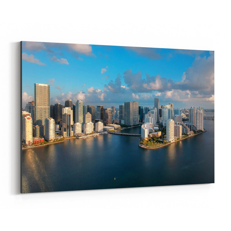 Miami Downtown Brickell Skyline  Canvas Art Print