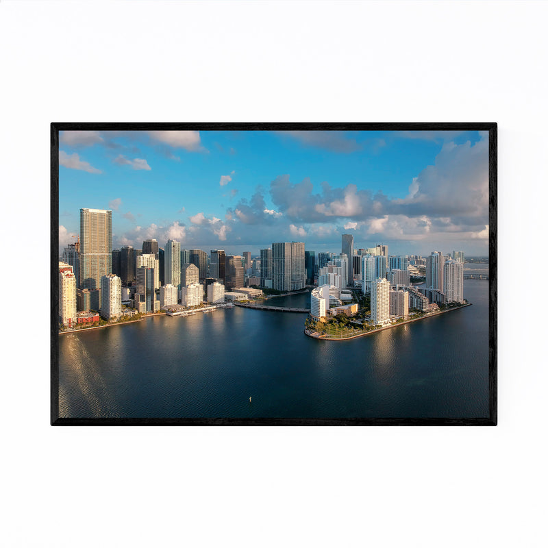 Miami Downtown Brickell Skyline  Framed Art Print