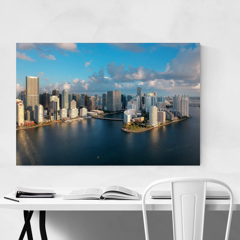 Miami Downtown Brickell Skyline  Metal Art Print