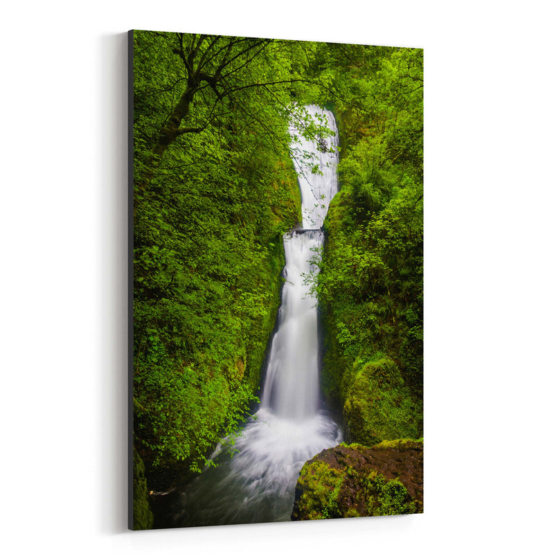 Oregon Waterfall Forest Nature Canvas Art Print