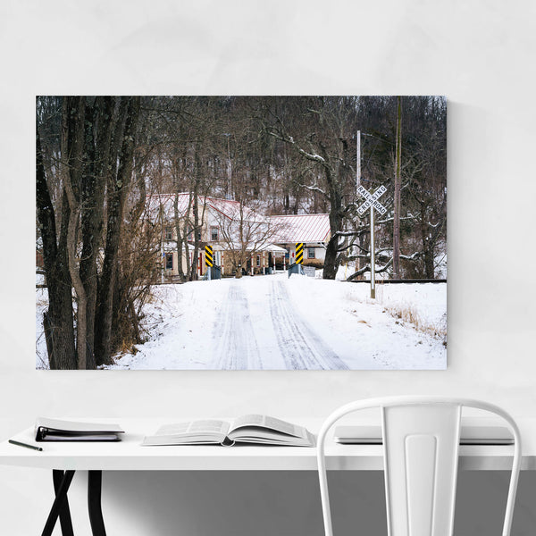 Rural Maryland Railroad Winter Art Print