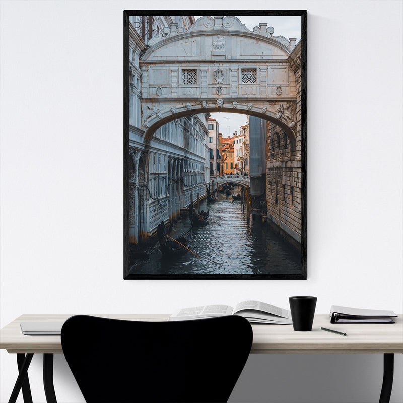 Venice Italy Bridge of Sighs Framed Art Print