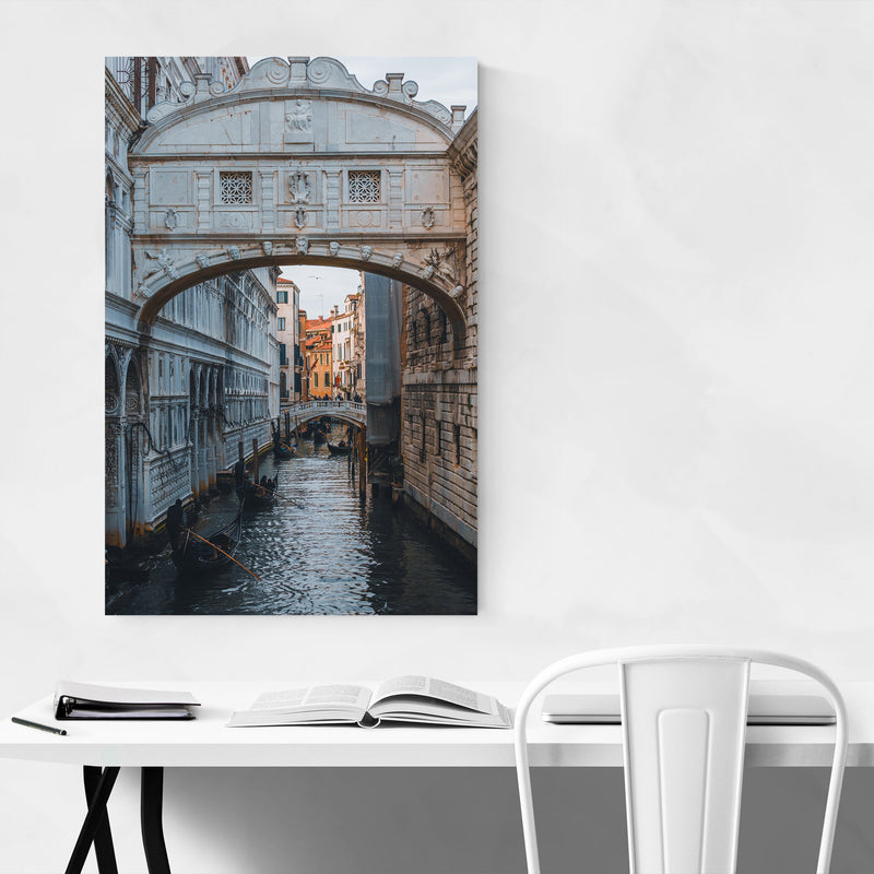 Venice Italy Bridge of Sighs Metal Art Print
