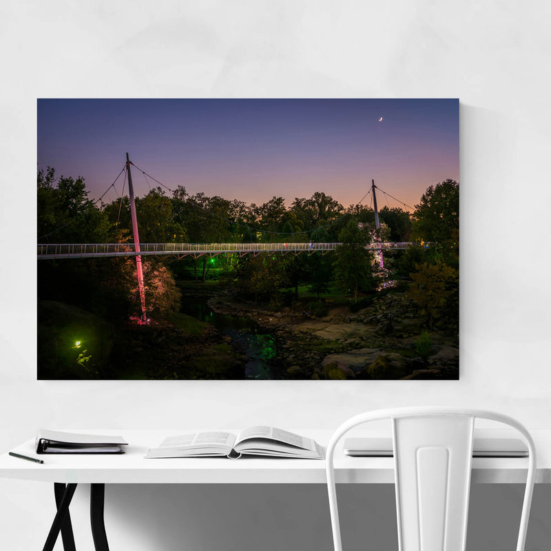 Greenville South Carolina Park Metal Art Print