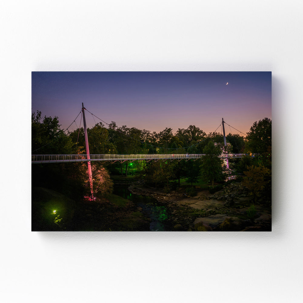 Greenville South Carolina Park Mounted Art Print