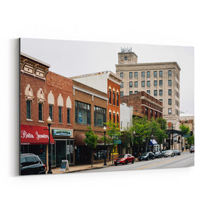 Downtown Aurora Illinois Canvas Art Print