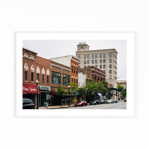 Downtown Aurora Illinois Framed Art Print